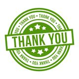 Thank You Stamp. Green Eps10 Vector Badge stock illustration