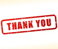 Thank you stamp. Illustration of thank you stamp on white background Royalty Free Stock Photo