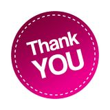 Thank you stamp. Seal- editable vector illustration on isolated white background royalty free illustration