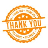 Thank You Stamp. Yellow Eps10 Vector Badge stock illustration