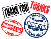 Thank you stamps Stock Image