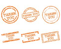 Thank you stamps. Detailed and accurate illustration of thank you stamps vector illustration