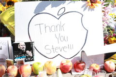 Thank you Steve jobs. A Thank you card for Steve jobs Royalty Free Stock Images