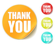 Thank you sticker stock illustration