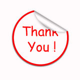 Thank you sticker Royalty Free Stock Images