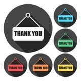 Thank you. Sticker collection. Vector illustration. Vector icon stock illustration