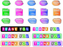 Thank You Sticker - Color ful royalty free illustration