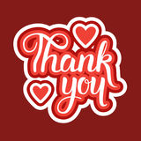 Thank You Sticker Social Media Network Message Badges Design Royalty Free Stock Images