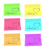 Thank You stickers Stock Images