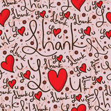 Thank you sweet chocolate seamless pattern Stock Image