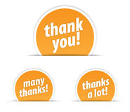 Thank you tag. On a white background Stock Photos