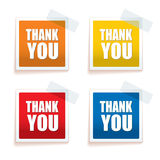 Thank you tag colour Stock Images