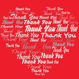 Thank you tagcloud - heart shape Royalty Free Stock Photos