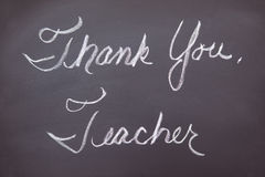 Thank you teacher on a chalkboard Stock Images