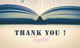 Thank you Teacher Day greeting card concept. Stock Photography