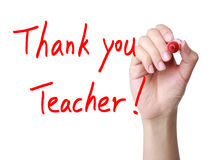 Thank you teacher! Royalty Free Stock Photos
