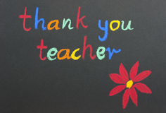 Thank you teacher red flower Royalty Free Stock Image