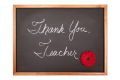 Thank you teacher sign Stock Image