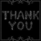 'Thank you' text on black background Stock Photo