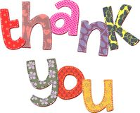 Thank You Text Clip Art vector illustration