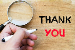 Thank you text concept Royalty Free Stock Image