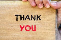 Thank you text concept Stock Image