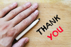 Thank you text concept Stock Images