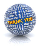 Thank you text in 22 different languages, 3d