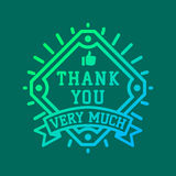 Thank you text lettering vector logo badge vector illustration