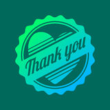 Thank you text lettering vector logo badge Stock Photography