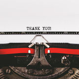 Thank you text on old typewriter Royalty Free Stock Images