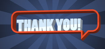 Thank you. Text in a speech bubble. 3D EPS10 Royalty Free Stock Images