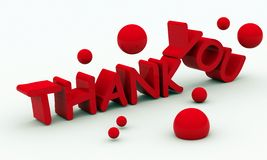 Thank you text on white background Royalty Free Stock Photography