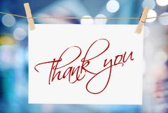 Thank you. Fountain pen pen gratitude letter writing note pad royalty free stock photos