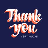 Thank You 003. Thank You handwritten inscription. Hand drawn lettering. Thank You card with abstract geometric background. Vectors Royalty Free Stock Photography