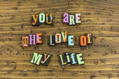 You are love of my life. Thank you thanks for love loving me typography light everything partner lover romantic relationship romance bff heart smile smiling royalty free stock image