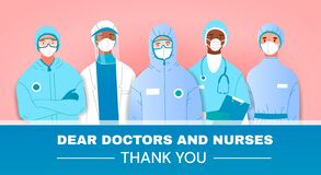 Thank You tribute or card to doctors and nurses