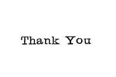 Thank You Typewriter Type Stock Photos