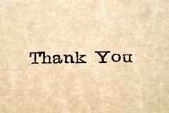 Thank You Typewriter Type Stock Photo