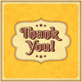 Thank you typographic design Stock Image