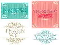 Thank You Typographic Design Royalty Free Stock Photography