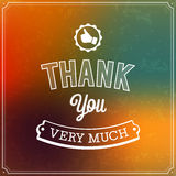 Thank you typographic design. Royalty Free Stock Photography