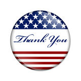 Thank You USA Button Stock Photography