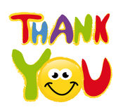 Thank you - vector Royalty Free Stock Image