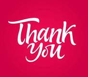 Thank you - vector drawn brush pen lettering message Royalty Free Stock Photography