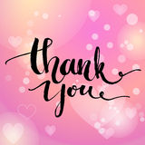 Thank you. Vector typography design for cards Royalty Free Stock Photo