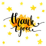 Thank you. Vector typography design for cards Royalty Free Stock Image