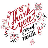 Thank you very much calligraphy Stock Images