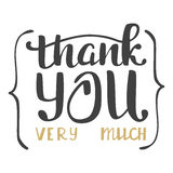 Thank you very much. Hand lettering inscription Royalty Free Stock Photos