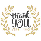 Thank you very much. Hand lettering inscription Stock Photography
